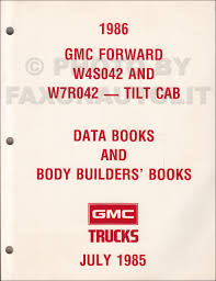 1986 gmc service policies and procedures manual original
