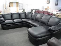 Leather Sectional With Chaise And Ottoman Furniture Black Leather Large Sectional Sofa With Chaise Using