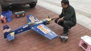 rc nitro plane my 6 year old edge 540 redbull nitro plane youtube