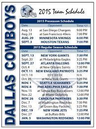 best 25 cowboys football schedule ideas on dallas