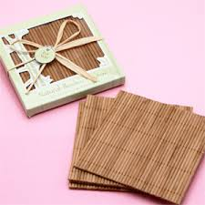 coaster favors bamboo wedding coaster favor eco friendly wedding favors