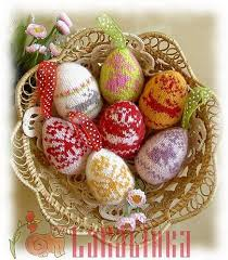 Easter Knitted Decorations by 14 Best Easter Knitted Eggs Images On Pinterest Easter Eggs