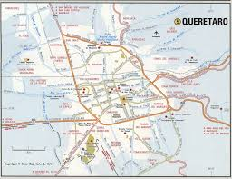 San Miguel De Allende Mexico Map by Queretaro City Roads Mapfree Maps Of Us