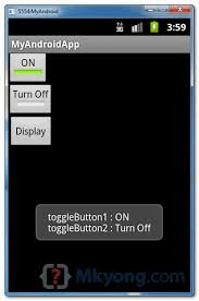 android toggle button android togglebutton exle