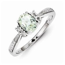 green amethyst engagement ring amethyst engagement rings