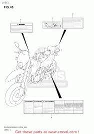 suzuki dr z400sm 2005 k5 usa e03 drz400sm dr z400sm label
