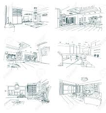 interior sketches vector set of hand drawn interior sketches royalty free cliparts