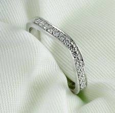 curved wedding band womens curved wedding bands ebay