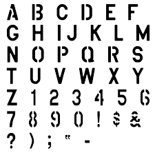free printable alphabet stencils view image design view