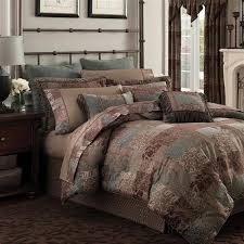 galleria brown comforter set croscill
