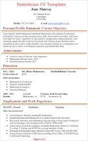statistician cv template tips and download cv plaza