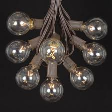 100 clear g50 globe string light set on brown wire novelty