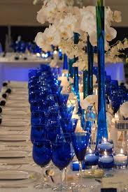 Blue Vases For Wedding Best 25 Cobalt Blue Weddings Ideas On Pinterest Blue Silver