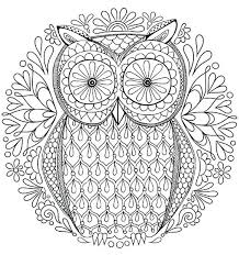 Intricate Coloring Pages Free Owl Coloring Page By Detailed Free Intricate Coloring Pages