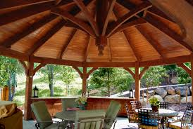 Western Kitchen Cabinets Timber Frame Gazebo Kit With Built In Cabinets Outdoor Kitchen
