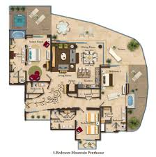 suite layouts garza blanca residence club penthouse floor plans