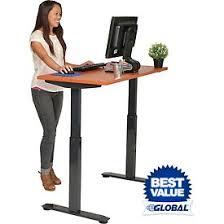 Electric Height Adjustable Computer Desk Adjustable Standing Desks Globalindustrial
