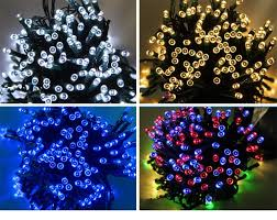 solar string garden lights colorful awesome solar led string lights outdoor garden lights