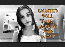 halloween dolls makeup haunted doll hair makeup and youtube