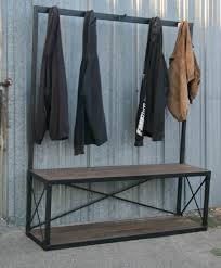 combine 9 industrial furniture u2013 industrial coat rack with bench