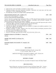 In House Counsel Resume Examples by William Franzblau Esquire Senior Counsel Resume 2015