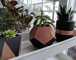 copper succulent pot etsy