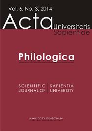 philologica vol 6 no 3 2014 by acta universitatis sapientiae
