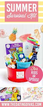 summer gift basket summer survival kit summer gift baskets summer and survival kits