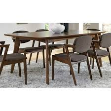 mid century dining room furniture coaster malone mid century modern casual dining table in walnut 105351