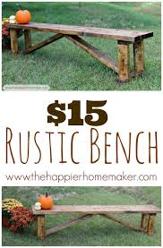 The Feminist Mystique Diy Rustic Wood Coffee Table Farm Table by Diy Rustic Farmhouse Bench Tutorial Rustic Bench Rustic