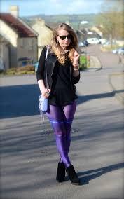 purple lightning storm leggings raindrops of sapphire