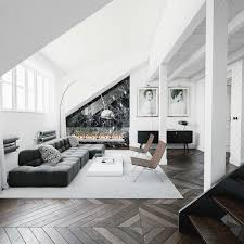 homedesigning via 30 black u0026 white living rooms