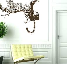 articles with cheap animal print wall decor tag leopard print awoo large leopard tiger tree removable vinyl decor sticker wall sticker home decaration animal wall decor