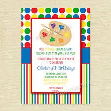 arts and crafts birthday party invitations drevio invitations design