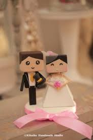 bride and groom wedding cake topper handmade handcrafted wood