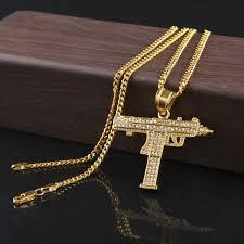 man pendant necklace images Wholesale hip hop man hunter diamond pendant necklace fashion cool jpg