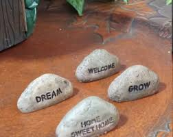 fairy welcome rock etsy