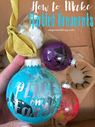 peace on earth marbled painted ornaments tutorial gun ramblings