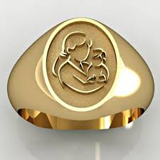 gold mothers rings images Mother and son oval shaped quot mother 39 s ring quot pg71751 jpg
