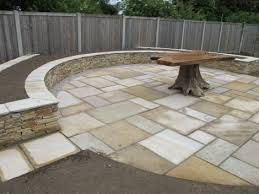 Raised Patio Construction A New Quartz Stone Raised Planting Bed Under Construction Which