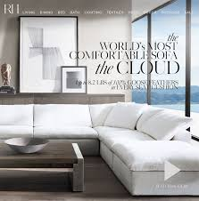 restoration hardware the cloud the world u0027s most comfortable sofa