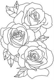 flower outline tattoos rose outline tattoo stencil line art