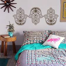 Yoga Home Decor by Wall Decal Hamsa Khamsa Palm Namaste Yoga Hand Eye Indian
