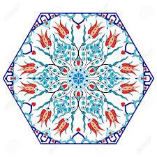 Pattern Ottoman Colorful Antique Ottoman Turkish Design Pattern Vector Royalty