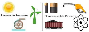 difference between renewable and non renewable resources with