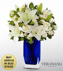 vera wang flowers vera wang endless blue fashion bouquet vase included