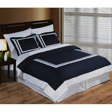 White Queen Duvet Navy And Gray Comforter 3pc Hotel Framed Navy Blue White Duvet