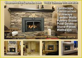 Outdoor Fireplace Canada - stone fireplace indoor u0026 outdoor installation for a free