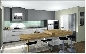 table escamotable cuisine cuisine avec ilot central et table avec table escamotable cuisine