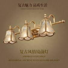 European Bathroom Lighting Usd 150 84 American Lamps All Copper Retro Led American Mirror